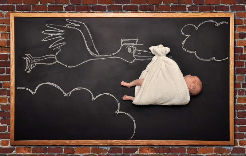 newborn blackboard photography Bay Area