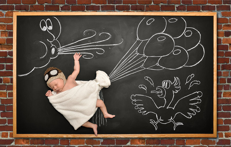 baby blackboard photographer Bay Area