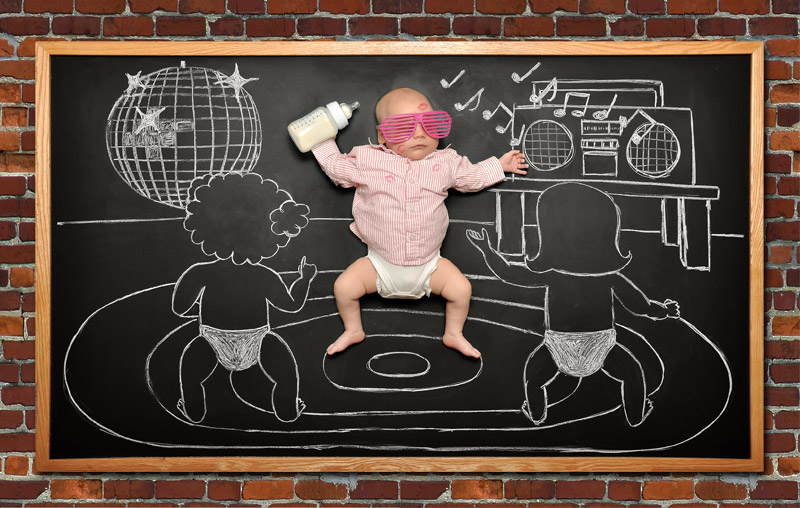 baby blackboard photographer San Jose