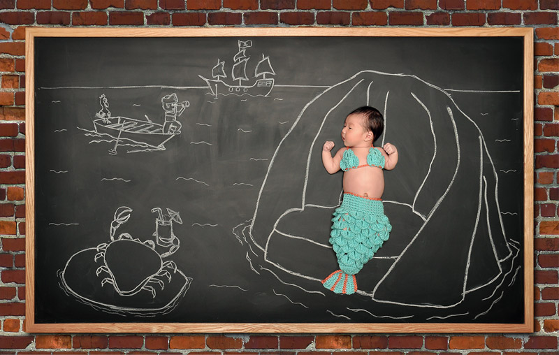 newborn blackboard photographer San Jose