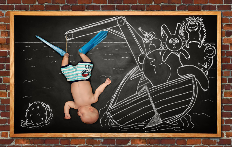 baby blackboard photography Bay Area