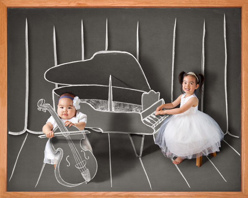 children baby blackboard photographer San Jose