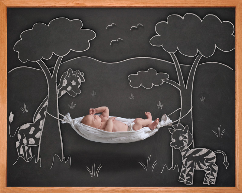 newborn blackboard photographer Bay Area