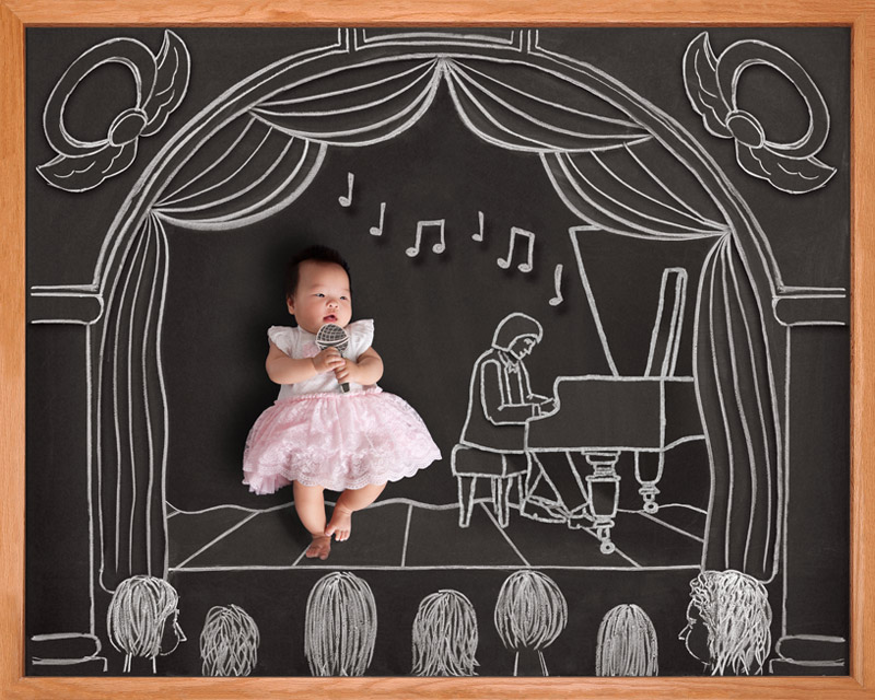 baby blackboard photography San Jose
