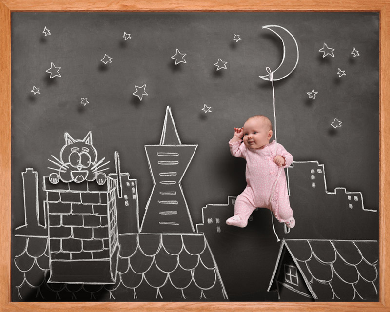 infant blackboard photography Bay Area