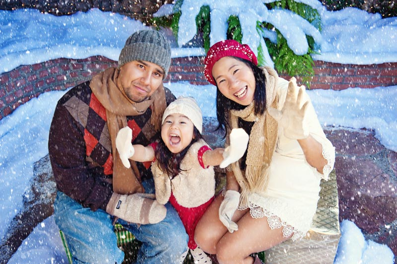 snow family photography San Jose